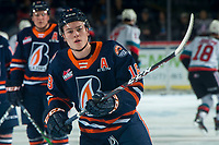 KELOWNA, BC - DECEMBER 27: Connor Zary #18 of the Kamloops Blazers warms up in the ice against the Kelowna Rockets at Prospera Place on December 27, 2019 in Kelowna, Canada. (Photo by Marissa Baecker/Shoot the Breeze)