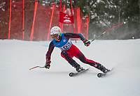 NEPSAC Giant Slalom race at Gunstock.    ©2018 Karen Bobotas Photographer