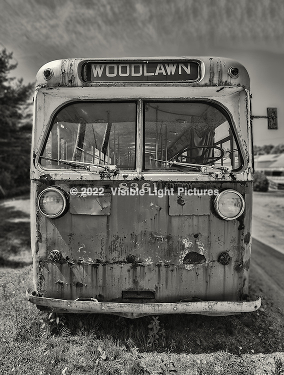 Woodlawn trolley bus at the Seashore Trolley Museum