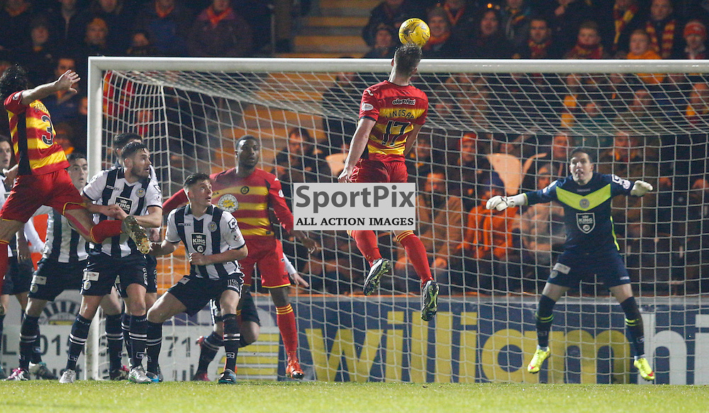 St.Mirren v Partick Thistle, Scottish Cup 4th round....Liam Lindsay takes a shot at goal.....(c) STEPHEN LAWSON | SportPix.org.uk