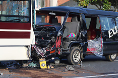 Auckland-Head on bus crash, East Tamaki