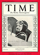 Front cover of Time Magaine 26th June 1933. Shows Italian aviator and fascist leader Italo Balbo who made a transatlantic crossing.