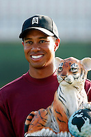12 December 2004: Tiger Woods closed out the final round of golf with 5-under-par 66 for a two-shot victory over Padraig Harrington (Ireland) at the 2004 Target World Challenge Presented by Williams held at the Sherwood Country Club in Thousand Oaks, CA.<br />