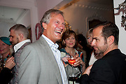 CHARLES DELEVIGNE; THE COUNTESS OF WOOLTON, Party at the home of Amanda Eliasch in Chelsea after the opening of As I Like it. A memory by Amanda Eliasch and Lyall Watson. Chelsea Theatre. Worl's End. London. 4 July 2010<br /> <br />  , -DO NOT ARCHIVE-© Copyright Photograph by Dafydd Jones. 248 Clapham Rd. London SW9 0PZ. Tel 0207 820 0771. www.dafjones.com.