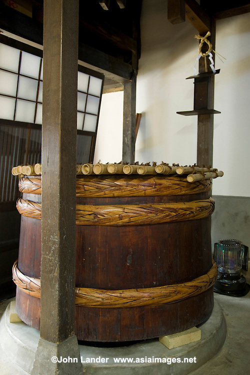 "Takayama Sake Vat - Sake is a Japanese alcoholic beverage made from rice. Though in fact in the Japanese language, the word sake refers to alcoholic drinks in general. The Japanese term for this specific drink is Nihonshu, meaning ""Japanese sake."" Sake is also referred to in English as rice wine. Sake is made through a brewing process is similar to brewing beer although it is often called ""Japanese rice wine""."