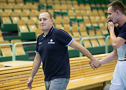 Matej Avanzo and Klemen Prepelic prior to the friendly basketball match between National teams of Slovenia and Australia, on August 3, 2015 in Arena Tri lilije, Lasko, Slovenia. Photo by Vid Ponikvar / Sportida