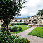 The monastery and church of Santa Clara (Saint Clair) in Antigua, Guatemala. The original foundation dates back to 1700 and the church was consecrated in 1715. It was run by nuns from the Second Franciscan Order of Poor Sisters of Saint Clair. In 1717 the earthquake of San Miguel caused extensive damages to the building. The church is now in ruins and is no longer a functional church.