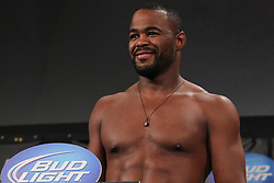 Atlanta, GA - April 20, 2012: Rashad Evans during the weigh-in for UFC 145 at the Fox Theatre in Atlanta, Georgia.