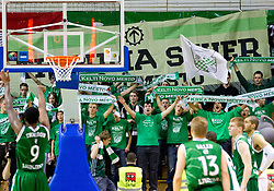 Kelti, fans of Krka during basketball match between KK Krka and Union Olimpija Ljubljana of Round 7th of ABA League 2011/2012, on November 12, 2011 in Arena Leon Stukelj, Novo mesto, Slovenia. (Photo By Vid Ponikvar / Sportida.com)