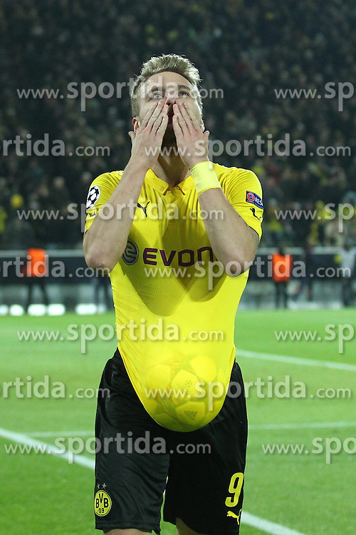 09.12.2014, Signal Iduna Park, Dortmund, GER, UEFA CL, Borussia Dortmund vs RSC Anderlecht, Gruppe D, im Bild Ciro Immobile (Borussia Dortmund) bejubelt seinen Treffer zum 1:0, Torjubel / Jubel, Emotionen // during the UEFA Champions League group D match between Borussia Dortmund and RSC Anderlecht at the Signal Iduna Park in Dortmund, Germany on 2014/12/09. EXPA Pictures &copy; 2014, PhotoCredit: EXPA/ Eibner-Pressefoto/ Neis<br /> <br /> *****ATTENTION - OUT of GER*****