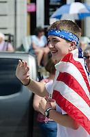BAR HARBOR, MAINE, July 4, 2014. Independence Day Parade