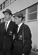 Members of the Irish Olympic team leaves for Amsterdam on the first stage of their journey to Tokyo.  Picture shows Basil Clifford and Tom O'Riordan..04.10.1964
