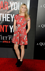 Comfort Clinton attending the 'A Quiet Place' New York Premiere at AMC Lincoln Square Theater on April 2, 2018 in New York City, NY, USA. Photo by Dennis Van Tine/ABACAPRESS.COM