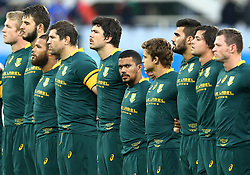 November 19, 2016 - Rome, Italy - Rudy Paige (S) with the teammates during the national anthem  during the international match between Italy v South Africa at Stadio Olimpico on November 19, 2016 in Rome, Italy. (Credit Image: © Matteo Ciambelli/NurPhoto via ZUMA Press)