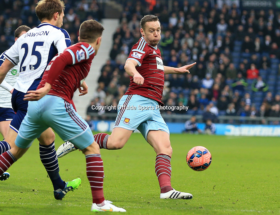14th February 2015 - FA Cup 5th Round - West Bromwich Albion v West Ham United - Kevin Nolan of West Ham United clears his lines - Photo: Paul Roberts / Offside.