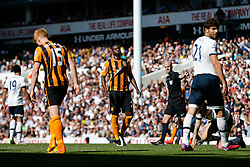 Dame N'Doye of Hull City looks frustrated after a missed shot - Photo mandatory by-line: Rogan Thomson/JMP - 07966 386802 - 16/05/2015 - SPORT - FOOTBALL - London, England - White Hart Lane - Tottenham Hotspur v Hull City - Barclays Premier League.