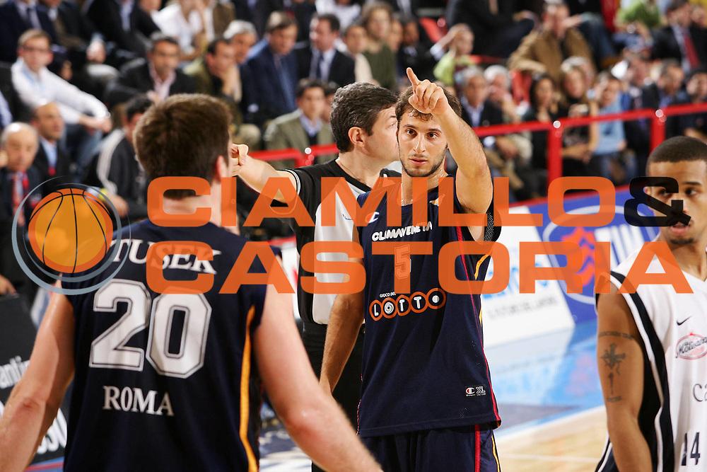 DESCRIZIONE : Forli Lega A1 2005-06 Coppa Italia Final Eight Tim Cup Carpisa Napoli Lottomatica Virtus Roma <br /> GIOCATORE : Giachetti Tusek <br /> SQUADRA : Lottomatica Virtus Roma <br /> EVENTO : Campionato Lega A1 2005-2006 Coppa Italia Final Eight Tim Cup Finale <br /> GARA : Carpisa Napoli Lottomatica Virtus Roma <br /> DATA : 19/02/2006 <br /> CATEGORIA : Esultanza <br /> SPORT : Pallacanestro <br /> AUTORE : Agenzia Ciamillo-Castoria/S.Silvestri