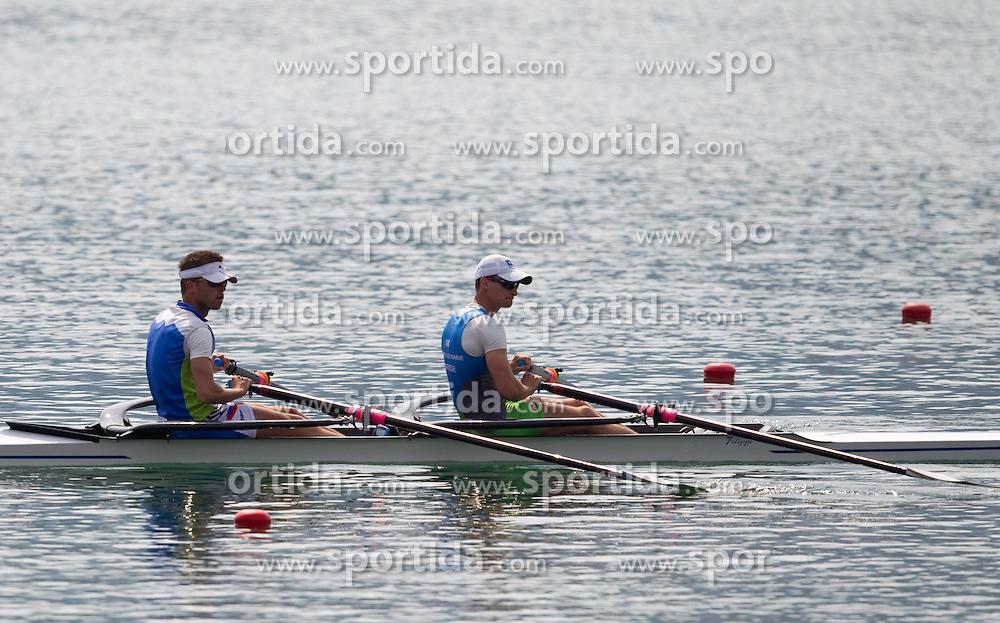 Rajko Hrvat and Jure Grace of Argo-Dravske elektrarne during 52nd Prvomajska Regatta Bled 2011, on April 24, 2011, at Lake Bled, Bled, Slovenia. (Photo By Vid Ponikvar / Sportida.com)