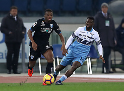 February 7, 2019 - Rome, Italy - Ss Lazio v Empoli Fc - Serie A.Hamed Junior Traore of Empoli and Bastos of Lazio at Olimpico Stadium in Rome, Italy on February 7, 2019. (Credit Image: © Matteo Ciambelli/NurPhoto via ZUMA Press)