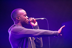 George the Poet on the T-Break tent. Saturday, 11th July 2015, day two at T in the Park 2015, at its new home at Strathallan Castle.