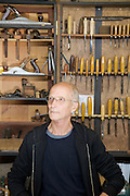 Furniture maker Adrian Swintead in his Maulden Woods studio, Bedfordshire<br /> CREDIT: Vanessa Berberian for The Wall Street Journal<br /> GURU-SWINSTEAD