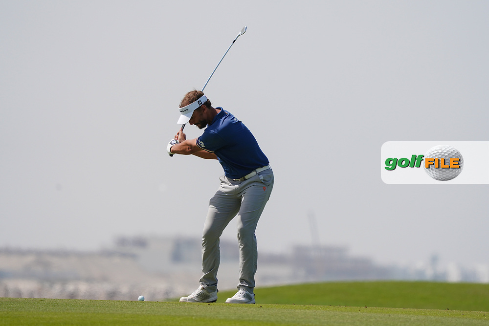 Joost Luiten (NED) on the 9th during Round 3 of the Oman Open 2020 at the Al Mouj Golf Club, Muscat, Oman . 29/02/2020<br /> Picture: Golffile | Thos Caffrey<br /> <br /> <br /> All photo usage must carry mandatory copyright credit (© Golffile | Thos Caffrey)