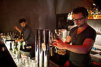 Vienna, Austria- November 22, 2014: A bartender pours a beer at If Dogs Run Free, a hipster haunt on Gumpendorferstrasse. CREDIT: Chris Carmichael for The New York Times