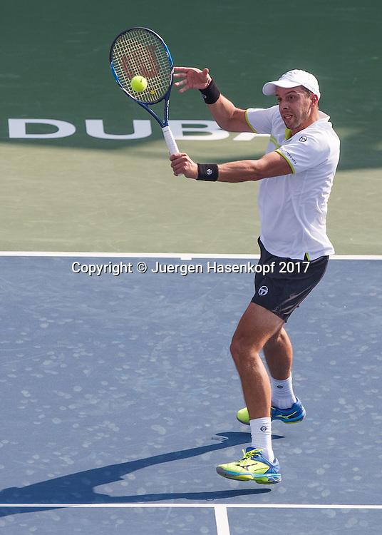 GILLES MULLER (LUX)<br /> <br /> Tennis - Dubai Duty Free Tennis Championships - ATP -  Dubai Duty Free Tennis Stadium - Dubai -  - United Arab Emirates  - 27 February 2017. <br /> &copy; Juergen Hasenkopf
