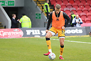 Port Vale defender Kyle Howkins (33) warming up prior to the EFL Sky Bet League 2 match between Grimsby Town FC and Port Vale at Blundell Park, Grimsby, United Kingdom on 10 March 2018. Picture by Mick Atkins.