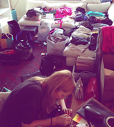 "Toni Garrn releases a photo on Instagram with the following caption: ""This is what it really looks like when you decide to ask all your friends for clothes\ud83d\ude48My living room 3 years ago was loaded from all my girls donations (during fashionweek!) My agent Eva came and helped me tag and look up prices for days, then my mom also flew in to help steaming\ud83d\udcaa\ud83c\udffc So excited and thankful to have a partner this year with @vestiaireco #teamwork #dreambig (Shoutout to all the NYC doormen TRYING to sort us out with logistics\ud83d\ude02) #fbf"". Photo Credit: Instagram *** No USA Distribution *** For Editorial Use Only *** Not to be Published in Books or Photo Books ***  Please note: Fees charged by the agency are for the agency's services only, and do not, nor are they intended to, convey to the user any ownership of Copyright or License in the material. The agency does not claim any ownership including but not limited to Copyright or License in the attached material. By publishing this material you expressly agree to indemnify and to hold the agency and its directors, shareholders and employees harmless from any loss, claims, damages, demands, expenses (including legal fees), or any causes of action or allegation against the agency arising out of or connected in any way with publication of the material."
