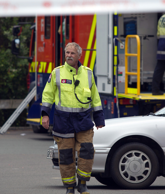 Fire crews from Tauranga and Rotorua responded to a small Potassium Cyanide spill in a dental studio on Cameron Road, Tauranga, New Zealand, Monday, January 05, 2015.Credit:SNPA / Cameron Avery