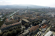 &copy; Filippo Alfero<br /> Torino vista dall'alto della mongolfiera frenata Turin Eye al Baloon<br /> Torino, 20/09/2014