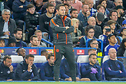 Chelsea manager Frank Lampard during the Champions League match between Chelsea and Valencia CF at Stamford Bridge, London, England on 17 September 2019.
