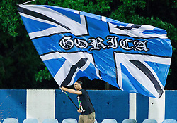 Fan of Gorica during 2nd Leg football match between ND Gorica and Molde FK (NOR) in Second Qualifying Round of UEFA Europa League 2014/15, on July 24, 2014 in Sportni park Nova Gorica, Slovenia. Photo by Vid Ponikvar / Sportida.com