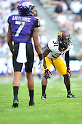 FORT WORTH, TX - SEPTEMBER 13:  Eric Murray #31 of the Minnesota Golden Gophers lines up against the TCU Horned Frogs on September 13, 2014 at Amon G. Carter Stadium in Fort Worth, Texas.  (Photo by Cooper Neill/Getty Images) *** Local Caption *** Eric Murray