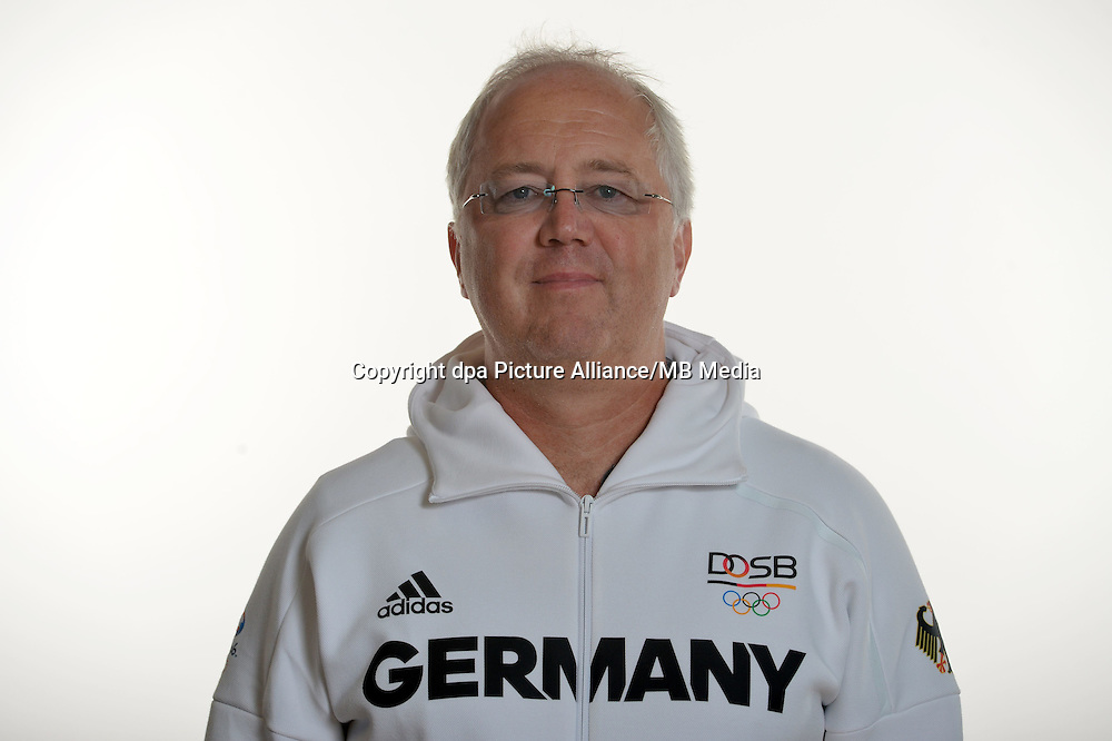 Dr. Stefan Nolte poses at a photocall during the preparations for the Olympic Games in Rio at the Emmich Cambrai Barracks in Hanover, Germany. July 27, 2016. Photo credit: Frank May/ picture alliance. | usage worldwide