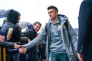 Leeds United midfielder Pablo Hernandez (19) arrives at the ground during the EFL Sky Bet Championship match between Leeds United and Queens Park Rangers at Elland Road, Leeds, England on 2 November 2019.