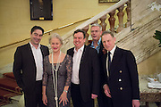Nathaniel Parker, Dame Helen Mirren, Richard McCabe, director Stephen Daldry and Edward Fox, The Audience Press night, Gielgud Theatre and after-party at the Horseguard Hotel. London. 5 March 2013