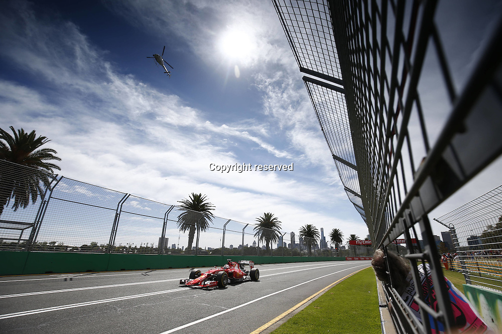 14.03.2015. Melbourne, Australia. F1 Grand Prix of Australia, qualification day at the Albert Park street circuit.  5 Sebastian Vettel (GER, Scuderia Ferrari)