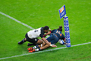 Teddy Thomas (FRA) and Luke Romano (NZL) (ALL BLACKS), he will miss to score after video arbitrage during the 2017 Autumn Test Match between France and New Zealand on November 11, 2017 at Stade de France in Saint-Denis, France - Photo Stephane Allaman / ProSportsImages / DPPI
