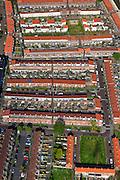 Nederland, Noord-Brabant, Breda, 09-05-2013; Heuvelkwartier, omgeving Mgr. Nolensplein. Naoorlogse stadsuitbreiding, jaren vijftig ('50), Delftse school. Traditioneel opgezet als parochiewijk rond de kerk Onze Lieve Vrouwe (OLV) van Altijddurende Bijstand.<br /> Postwar urban expansion built in the  fifties, Delft School. Traditionally designed as parish area around the church Our Lady<br /> luchtfoto (toeslag op standard tarieven)<br /> aerial photo (additional fee required)<br /> copyright foto/photo Siebe Swart