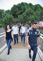 HAIFA, ISRAEL - Saturday, March 28, 2015: Maya Winter on a team walk ahead of the UEFA Euro 2016 qualifying Group B match against Israel. (Pic by David Rawcliffe/Propaganda)
