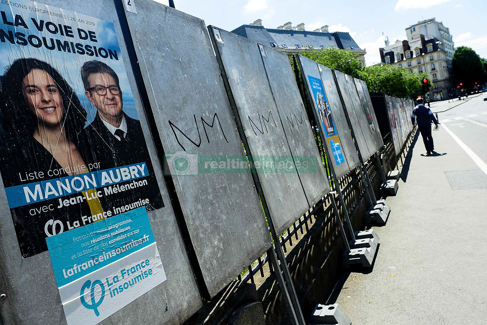 May 24, 2019 - Saumur, France - Posters for European Parliament elections in Saumur, western France during the european election  on May 26th, 2019. 47.1 million of electors are  voting this sunday in France for the european election. (Credit Image: © Vernault Quentin/NurPhoto via ZUMA Press)
