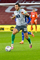 Football - 2019 / 2020 Championship - Cardiff City vs Blackburn Rovers<br /> <br /> Lewis Travis Blackburn Rovers on the attack<br /> in a match played with no crowd due to Covid 19 coronavirus emergency regulations, at the almost empty Liberty Stadium.<br /> <br /> COLORSPORT/WINSTON BYNORTH