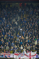 20.10.2011, Jan-Breydel Stadion, Bruegge, BEL, UEFA EL, Gruppe H, FC Bruegge (BEL) vs Birmingham City (ENG), im Bild  Birmingham City's supporters stand in the stairwells during the UEFA Europa League Group H match against Club Brugge at the Jan Breydelstadion.  // during UEFA Europa League group H match between FC Bruegge (BEL) vs Birmingham City (ENG), at Jan-Breydel Stadium, Brugge, Belgium on 20/10/2011. EXPA Pictures © 2011, PhotoCredit: EXPA/ Propaganda Photo/ David Rawcliff +++++ ATTENTION - OUT OF ENGLAND/GBR+++++