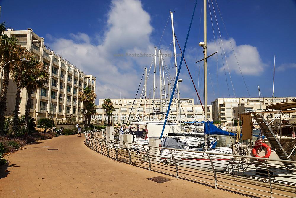 Yachts in the Herzliya Yacht club, Israel