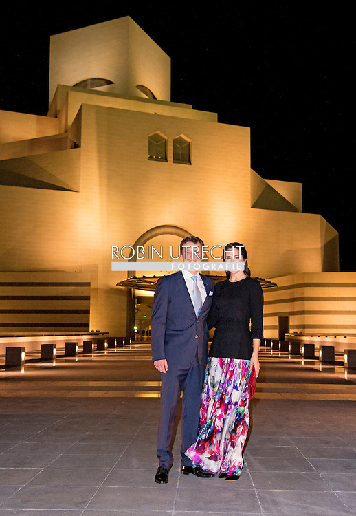 2-3- 2016  DOHA QATAR - Crownprincess Mary and Crownprince Frederik Visit of the Doha Islamic Museum and tour of the museum by H.E. Sheikha Al-Mayassa Al-Thani  Crownprincess Mary and Crownprince Frederik during a 2 day business visit to Qatar .  COPYRIGHT ROBIN UTRECHT<br /> Kroonprinses Mary en kroonprins Fredrik uit denemarken tijdens een twee daags handelsmissie bezoek aan qatar