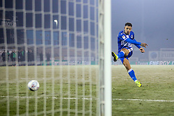 Jonson Clarke-Harris of Bristol Rovers scores his penalty in the shoot out against Leyton Orient - Mandatory by-line: Robbie Stephenson/JMP - 04/12/2019 - FOOTBALL - Memorial Stadium - Bristol, England - Bristol Rovers v Leyton Orient - Leasing.com Trophy