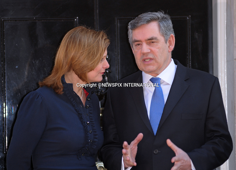 PRIME MINISTER ORDON BROWN AND WIFE SARAH.at No.10 Downing Street, London_01/04/2009.Prime Minister Gordon Brown looked a worried man for most of the time..The Obamas are in  London for the G20 Summit.PHOTO CREDIT MANDATORY: ©Dias/NEWSPIX INTERNATIONAL  .(Failure to by-line the photograph will result in an additional 100% reproduction fee surcharge)..            *** ALL FEES PAYABLE TO: NEWSPIX INTERNATIONAL ***..IMMEDIATE CONFIRMATION OF USAGE REQUIRED:Tel:+441279 324672..Newspix International, 31 Chinnery Hill, Bishop's Stortford, ENGLAND CM23 3PS.Tel: +441279 324672.Fax: +441279 656877.Mobile: +447775681153.e-mail: info@newspixinternational.co.uk