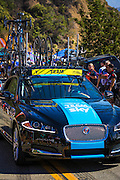 Team car at the Amgen Tour of California, Santa Monica Mountains, California USA